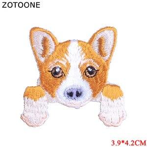 ZOTOONE 10 шт./лот модная вышитая нашивка для собак с железными заплатками для наклеек, одежда, флип-ткань, сделай сам