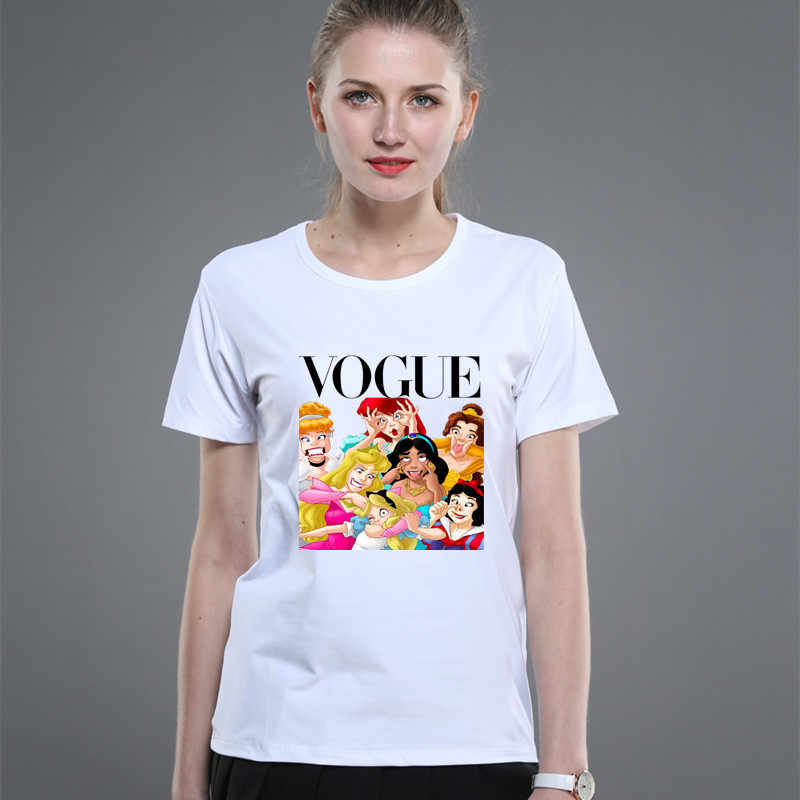 1PC 2019 Gaya Musim Panas Punk Princess Dicetak T-shirt Fashion Ibu Pakaian Lucu Keluarga Terlihat Pendek Lengan kemeja