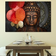 Lord Buddha Face Wallpaper Art Canvas Poster Painting Oil Wall Pictures Print Modern Office Home Bedroom Decoration Framework