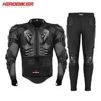 HEROBIKER Motorcycle Jackets Motorcycle Armor Racing Body Protector Jacket Motocross Set Motorbike Protective Suit Protector