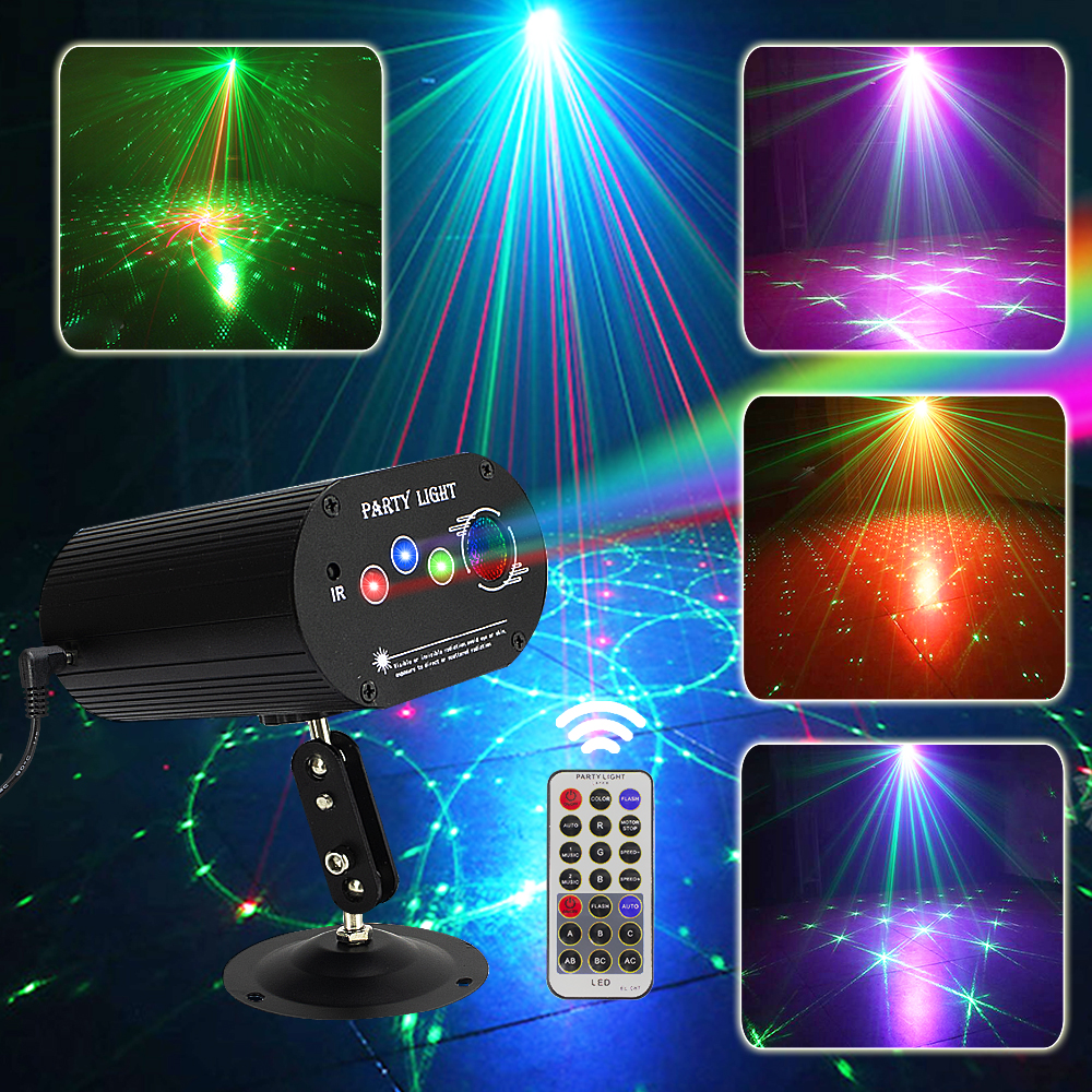 New Disco Laser Light RGB Projector Party Lights DJ Lighting Effect For Home Party Bar Wedding KTV Decoration