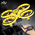 XKJ Mini Uhr RC Drone Sensing Geste Infrarot Induktion Quadcopter Intelligente Fernbedienung LED UFO Hubschrauber Spielzeug Für Jungen