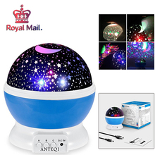 Moon Star Projection Lamp Novelty Luminous Toys Romantic Starry Sky LED Night Light Baby Bedroom Gifts