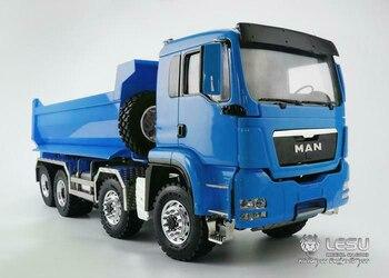 LESU RC 8*8 1/14 Hydraulic Dumper TruckDIY MAN Model Metal Chassis Sound Painted THZH0353