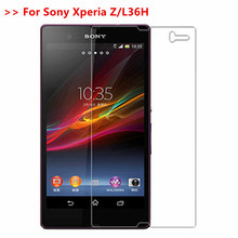9H Tempered Glass For Sony Xperia Z L36H C6602 C6603 C6606 C6616 Premium Screen Protector Protective Glass Film For Sony Z L36H kinston colorful rhombus pattern plastic hard case for sony l36h xperia z white red