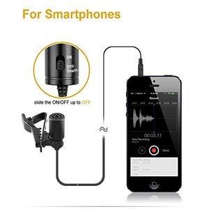 Image 3 - BOYA BY M1 3.5mm Lavalier דש מיקרופון Smartphone DSLR הקלטת וידאו שיא מיקרופון עבור iPhone 12 פרו מקס חי
