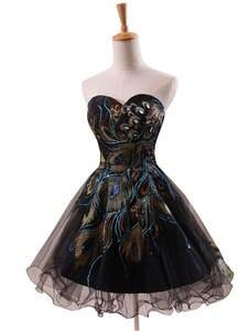 Коктейль-платья участник-платье кристалла возлюбленной короткие королевские-голубые вышивки sd039 vestido-де-феста