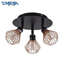 Dönebilen siyah tavan lambası aydınlatma yaratıcı kafes açısı ayarlanabilir G9 elektrik ampulü mağaza Showroom aydınlatma