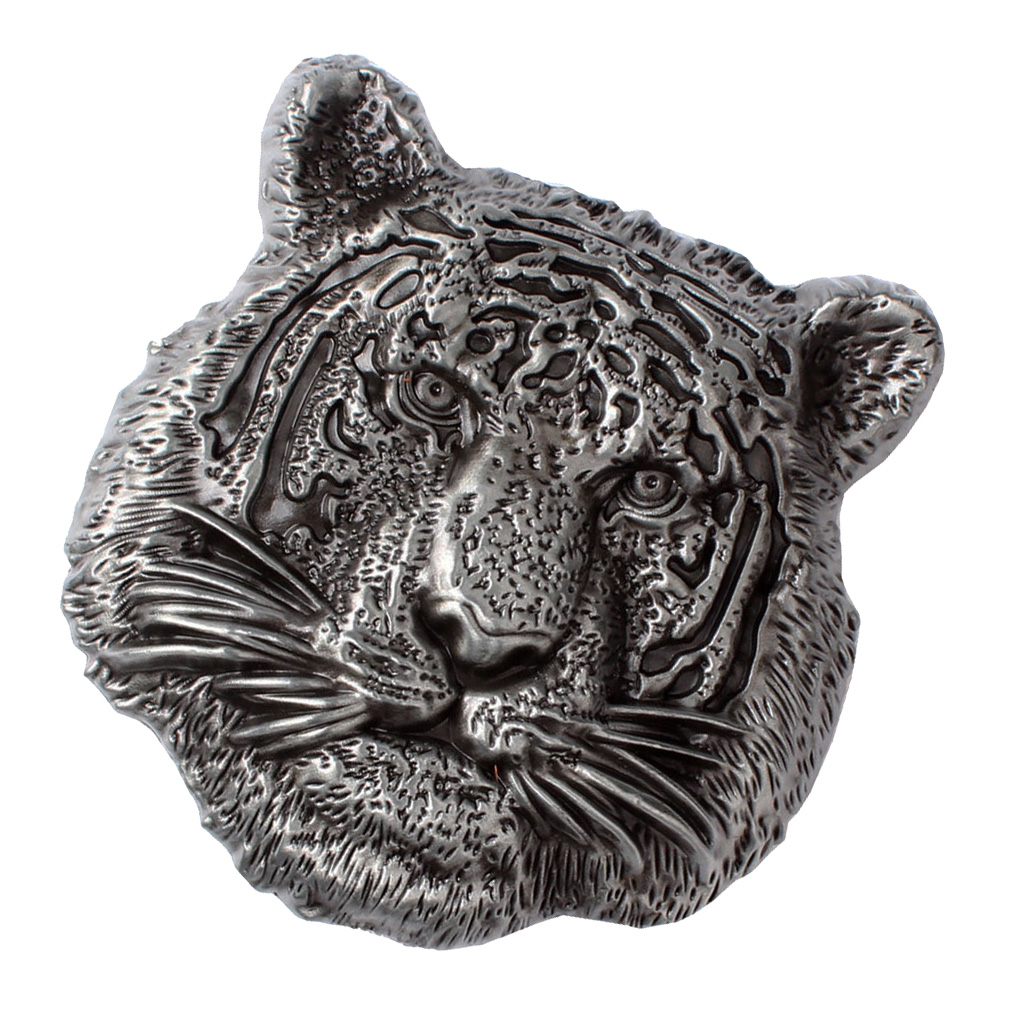 Alloy Vintage Western Belt Buckle Tiger Head Buckle Animal Metal Men Silver