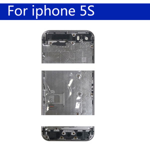 Image 3 - For iphon 5 5S SE Battery Cover Door Housing Back Housing Shell Chassis Middle Frame body rear case