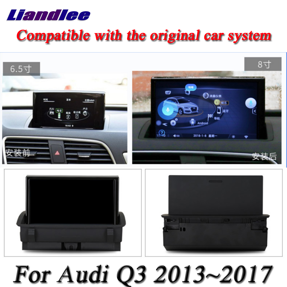 Image 3 - For Audi RS Q3 2013 2014 2015 2016 2017 Car Android Multimedia Player HD Touch Screen Radio AM FM RDS GPS Navigation SystemCar Multimedia Player   -