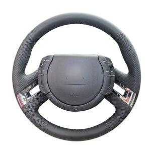 Черный чехол рулевого колеса автомобиля из искусственной кожи для Citroen C4 Picasso 2007 2008 2009 2010 2011 2012 2013