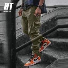 High Quality Green Cargo Pants Men Hip Hop Streetwear Military Tactical Joggers Casual Pants Men Harajuku Multi-Pocket Trousers