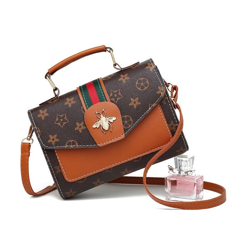 Berühmte Designer taschen für frauen 2019 luxus marke vintage print tasche kleine leder tote handtasche PU kreuz körper taschen bolsas de mujer