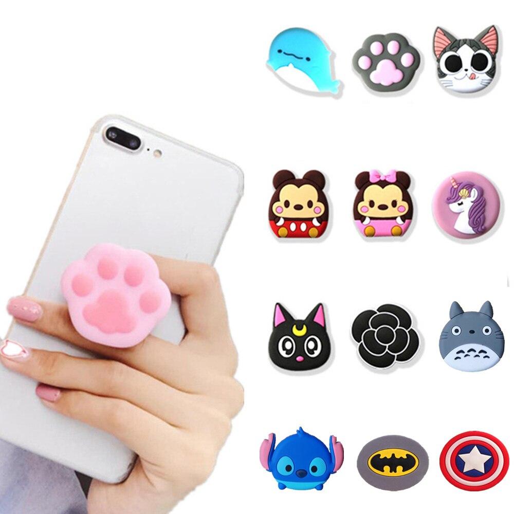 1PCS Universal Mobile Phone Bracket Cute 3D Animal Airbag Phone Expanding Stand Finger Holder Stitch Panda Phone Holder Stand