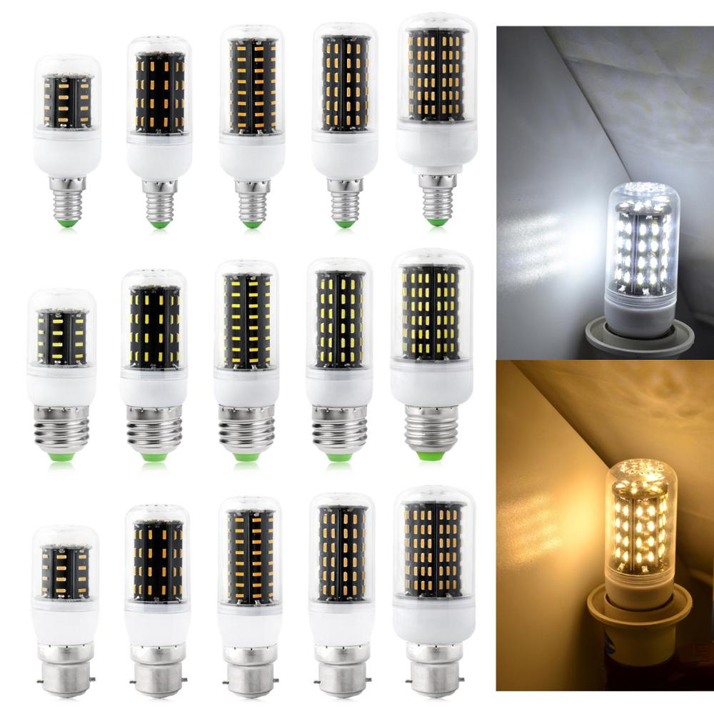 E12 E14 E26 E27 B22 LED Corn Light Bulbs 12W - 35W Screw Bayonet Base White Lamp Energy Saving Ultra Bright 4014 SMD 110V 220V
