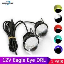 цена на 2pcs Car Fog Light LED Daytime Running Light DRL Fog Lamp External Fish Led Eagle Eye Automobile Strobe Flash Lamp Reverse Light