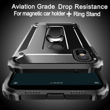 Aviation shockproof Ring Stand Phone Case For XiaoMi 9 8 SE 8 Lite 6X 6 Plus 5X 5S Plus 5C A2 F1 Note 2 Mix 3 2s Max 3 2 Case(China)