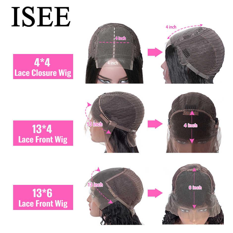 Pelucas de cabello humano corto recto peluca Frontal de encaje 360 pelucas frontales de encaje Bob recto pelucas frontales de encaje ISEE cabello malasio pelucas de cabello humano