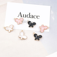 Butterfly Animal  Enamel Charms Alloy Pendant fit for bracelet earring DIY  Fashion Jewelry Accessories 12x17mm 5pcs alloy enamel heels hat coat charms with artificial pearl gold tone charm for women earring bracelet jewelry diy accessory
