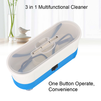 3 In 1 Ultrasonic Cleaner Mini Jewelry Glasses Watch Ultrasound Bath Cleaning Machine Contact Lens Sonic Washer himoskwa 600ml mini ultrasonic cleaner intelligent digital control ultrasonic cleaner bath for jewelry glasses cleaning 30w 50w