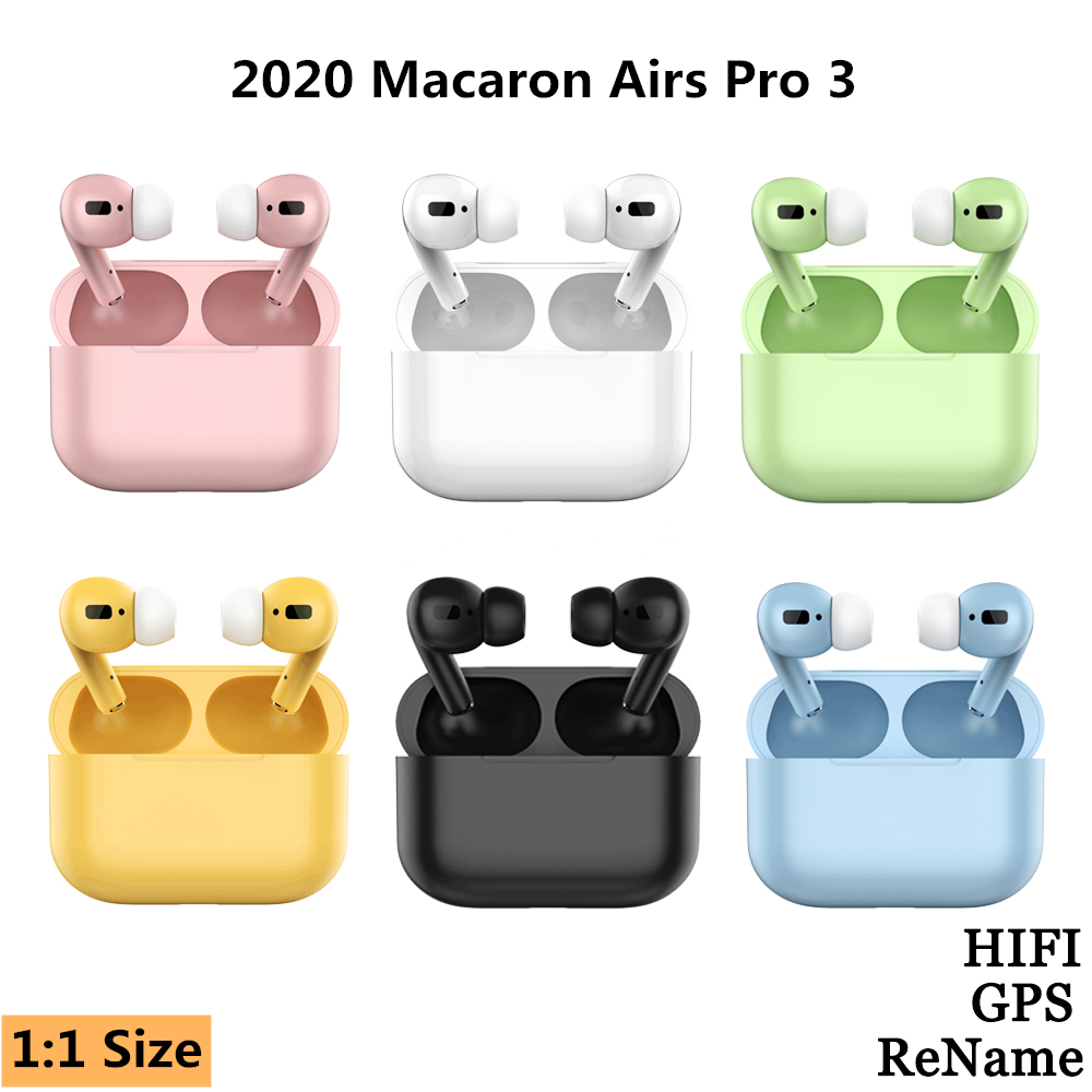 Macaron Airs Pro 3 TWS 1: 1 Wireless Headphones Bluetooth Earphone In-ear Stereo Earbuds Headset For IPhone Xiaomi PK I12 Pod 2