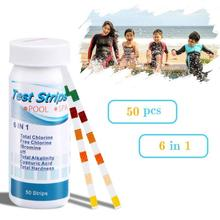 50pcs Spa Water Quality Test Strips Pond Test Paper Chlorine PH Alkalinity Water Hardness Meter Analyzers For Swimming Pool