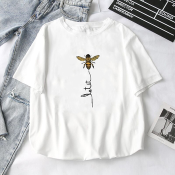 T-shirt Aesthetics Graphic Hillbilly Women Bee Kind Short Sleeve T Shirts Female Camisetas Verano Mujer Harajuku Oversized Top недорого
