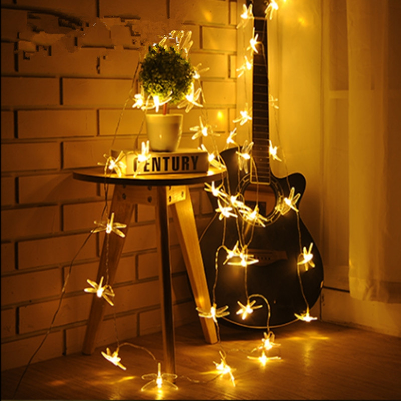 LED Light String 10M 20M 30M 50M AC110V/220V Christmas Holiday Light Waterproof Christmas Lights 9 Color Decorative Lights