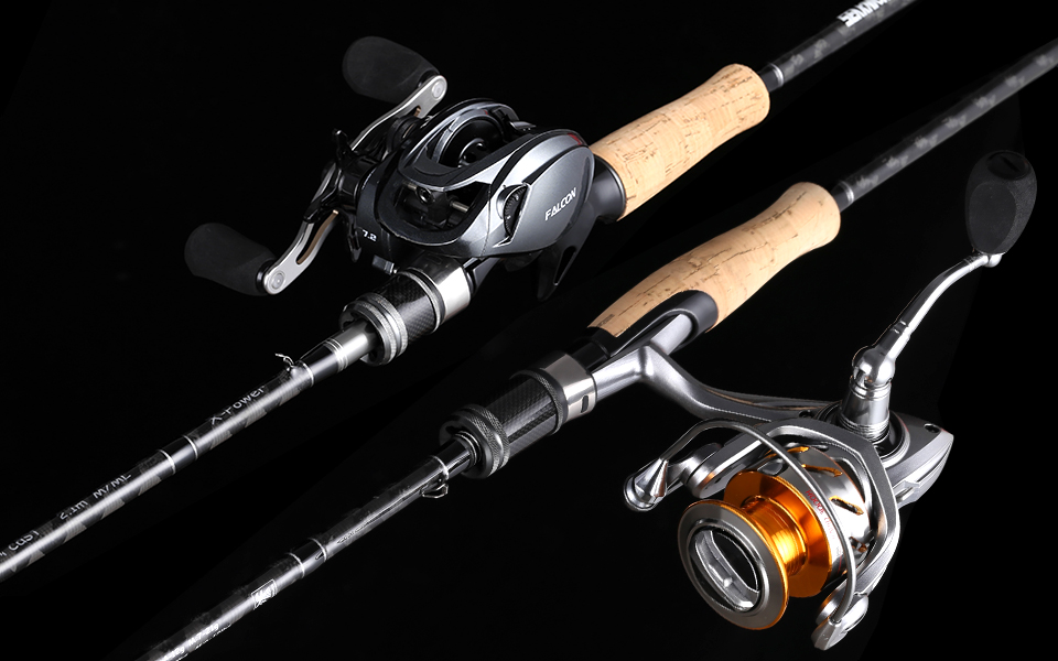 SeaKnight Falcon 1.98M 2.1M 2.4M Fishing Rod 2 Tips M&ML M&MH Power 2 Sections Carbon Rod Spinning Casting Rod Fishing Tackle 16