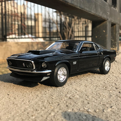 WELLY 1:24 1969 Ford Mustang BOSS 429 car simulation alloy car model crafts decoration collection toy tools gift