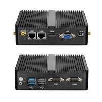 Mini PC Celeron J1900 Quad Core Finestre 10 Dual LAN 2 * COM Fanless Mini Computer Celeron J1800 N2830 NetTop 300M WIFI HDMI VGA