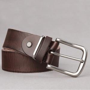 Image 5 - חגורת זכר שכבה ראשונה עור טהור עור פין אבזם חגורת זכר נוער קוריאני מזדמן פראי פשוט ג ינס חגורת גאות