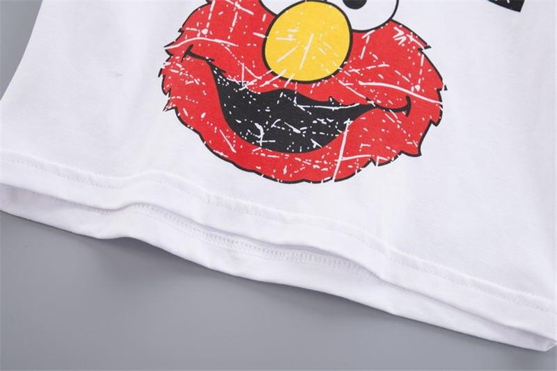 dos desenhos animados manga curta camiseta shorts