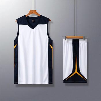 2020Men wysokiej jakości pusta koszulka koszykarska zestaw mundury zestawy ubrania sportowe tanie koszulki koszykarskie college dresy niestandardowe tanie i dobre opinie NoEnName_Null Poliester Bez rękawów Anty-pilling Anti-shrink Oddychające Ekologiczne Szybkie suche Koszykówka Pasuje prawda na wymiar weź swój normalny rozmiar