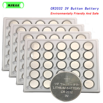 100pcs 3V CR2032 Lithium Button Cell Battery BR2032 DL2032 ECR2032 CR2032 Button Coin Cell Battery for Watches Clocks Calculator