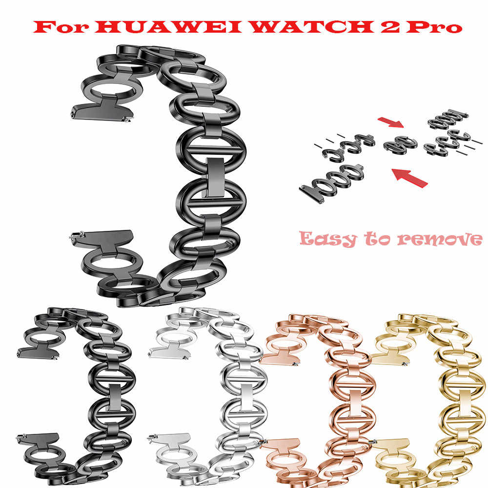 OTOKY Stainless Steel Chain Style Bracelet Smart Watch Band Strap For HUAWEI Watch 2 Pro  Bracelet Strap WatchWrist 4 Colors