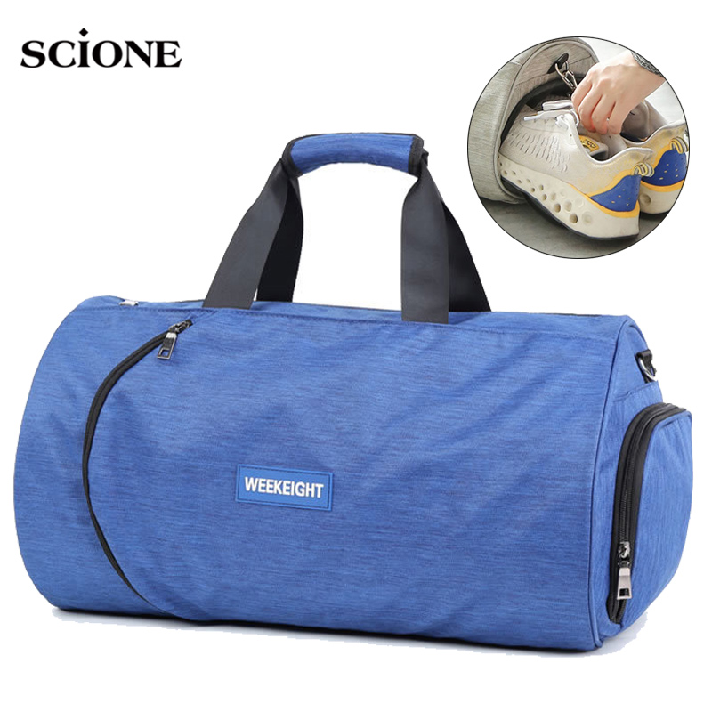Men Gym Bag Dry Wet Fitness Handbag Women Shoes Storage Shoulder Travel Gymtas Sac De Sport Bags Bolso Deportivo Mujer XA905WA