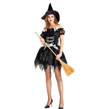 The new adult Halloween short black ghost witch witch temperament small hag night game(China)