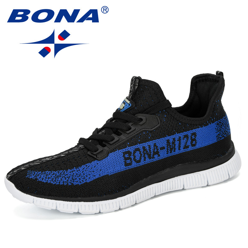 BONA 2020 New Arrival Mesh Running Shoes Men Jogging Walking Sports Shoes Man Athietic Breathale Sneakers Outdoor Trainer Shoes