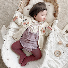 Baby Sweaters Knitwear MILANCEL Girls Infant Cardigans Collar Embroidery Ruffle