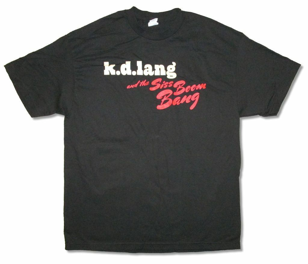 <font><b>Kd</b></font> Lang Siss Boom Bang 2011 Tour Black T <font><b>Shirt</b></font> New Official image
