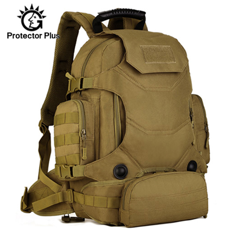 40L Military Backpack Multi function 3 in 1 Men Tactical Rucksack Waist Pack Combination Mountaineering Travel Hiking XA46D|Climbing Bags|Sports & Entertainment - title=