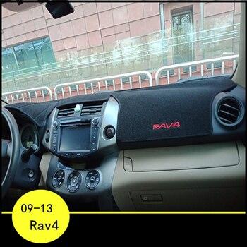 lsrtw2017 polyster car dashboard pad mat for toyota rav4 2006 2007 2008 2009 2010 2011 2012 xa30 anti-reflective carpet