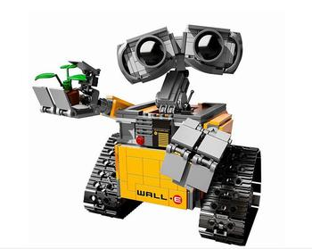 687 Pcs 16003 Ideas WALL E Building Blocks Robot Model Building Kit Bricks Toys Children Compatible new фото