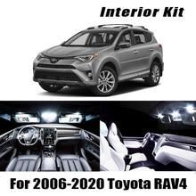 8x sem erro branco led kit de lâmpadas interior do carro kit para 2006- 2017 2018 2019 2020 toyota rav4 RAV-4 luzes interior de led