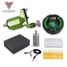 Rotary Machine Tattoo Kit Needles Grip Tips Set LCD Mini Power Equipment Supplies Tattoo Machine Kit