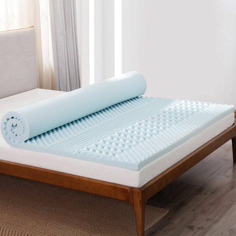 Mlily matelas en mousse à mémoire de forme Toppper Gel de refroidissement matelas à rebond lent roi reine double taille chambre meubles