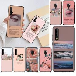 Funda del teléfono carcasa estética Rosa canciones letras estéticas para Huawei P40 P30 P20 lite Pro Mate 30 20 Pro P Smart 2019 prime