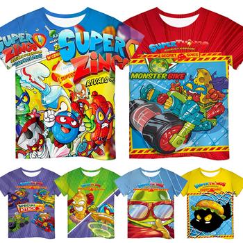 Druk 3D Super Zings seria 6 koszulka dla dziewczynek chłopcy letnie dzieci kreskówka koszulka z motywem Anime dzieci z krótkim rękawem Superzings Tshirt tanie i dobre opinie CASUAL krótkie CN (pochodzenie) POLIESTER Na wiosnę i lato Na co dzień Z okrągłym kołnierzykiem tops Z KRÓTKIM RĘKAWEM
